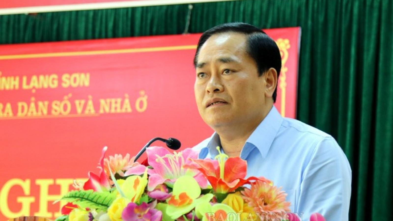 Ông Hồ Tiến Thiệu giữ chức Phó Bí thư, Chủ tịch tỉnh Lạng Sơn