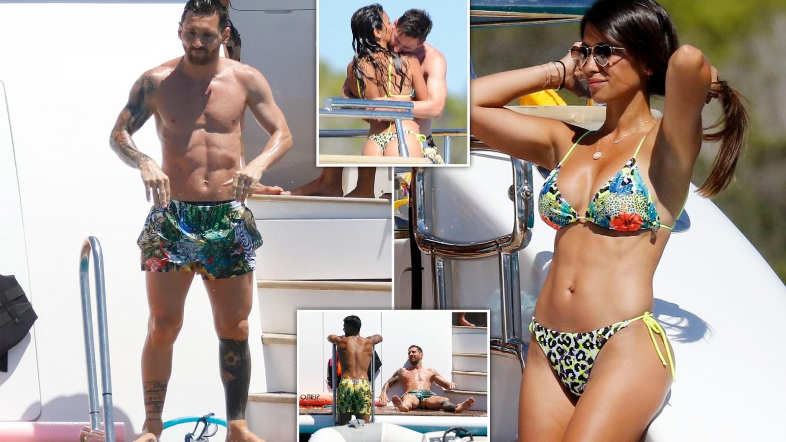 Lionel Messi khoe cơ bụng 6 múi bên bà xã Antonela bốc lửa