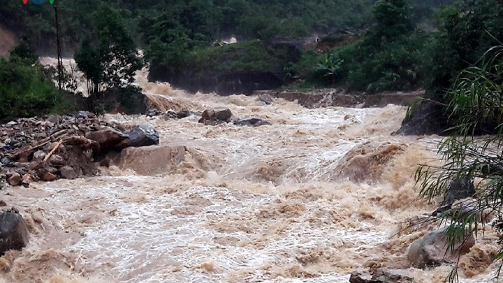 Mưa to lũ ống thiệt hại lớn đến nhiều hộ dân tại Hà Giang
