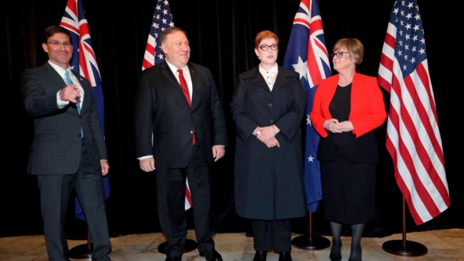 """Bộ đôi quyền lực Australia và Mỹ """"bắt tay"""" kiềm chế Trung Quốc"""