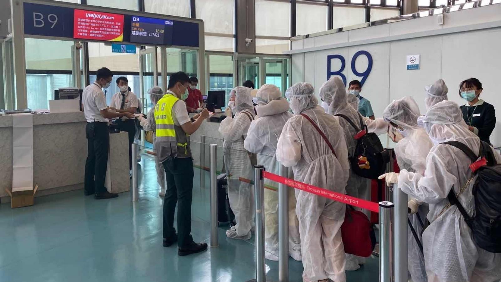 230 công dân Việt Nam tại Đài Loan (Trung Quốc) về nước an toàn