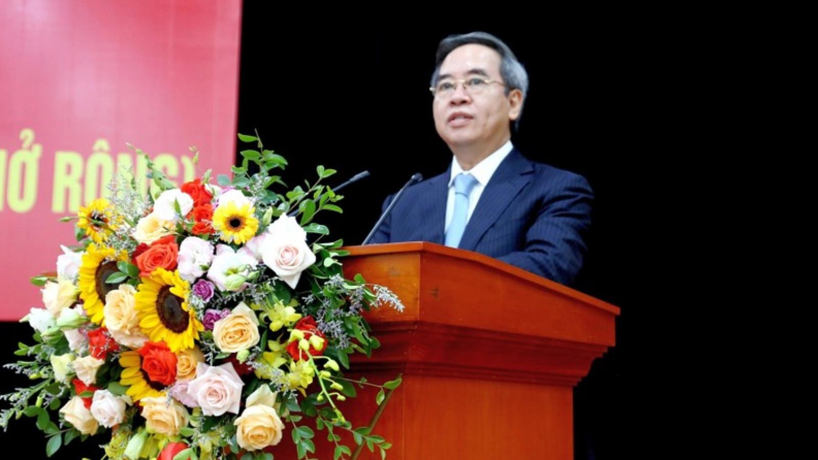 Ông Nguyễn Văn Bình dự Hội nghị sơ kết Đảng ủy Khối Doanh nghiệp TƯ
