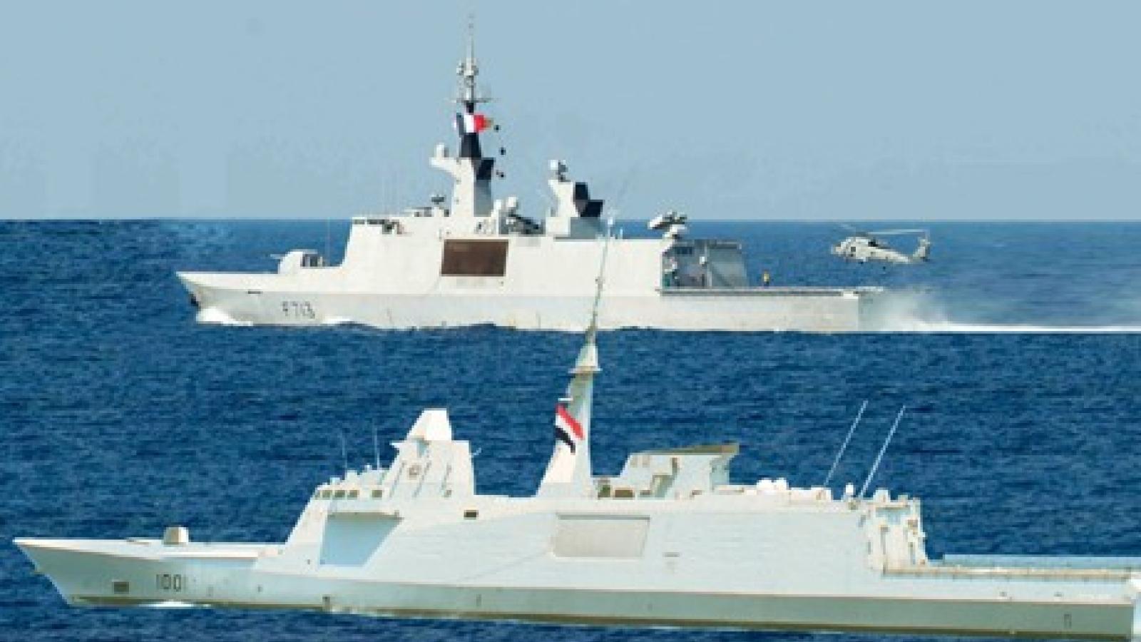 Ai Cập và Pháp tập trận chung trên vùng biển Địa Trung Hải