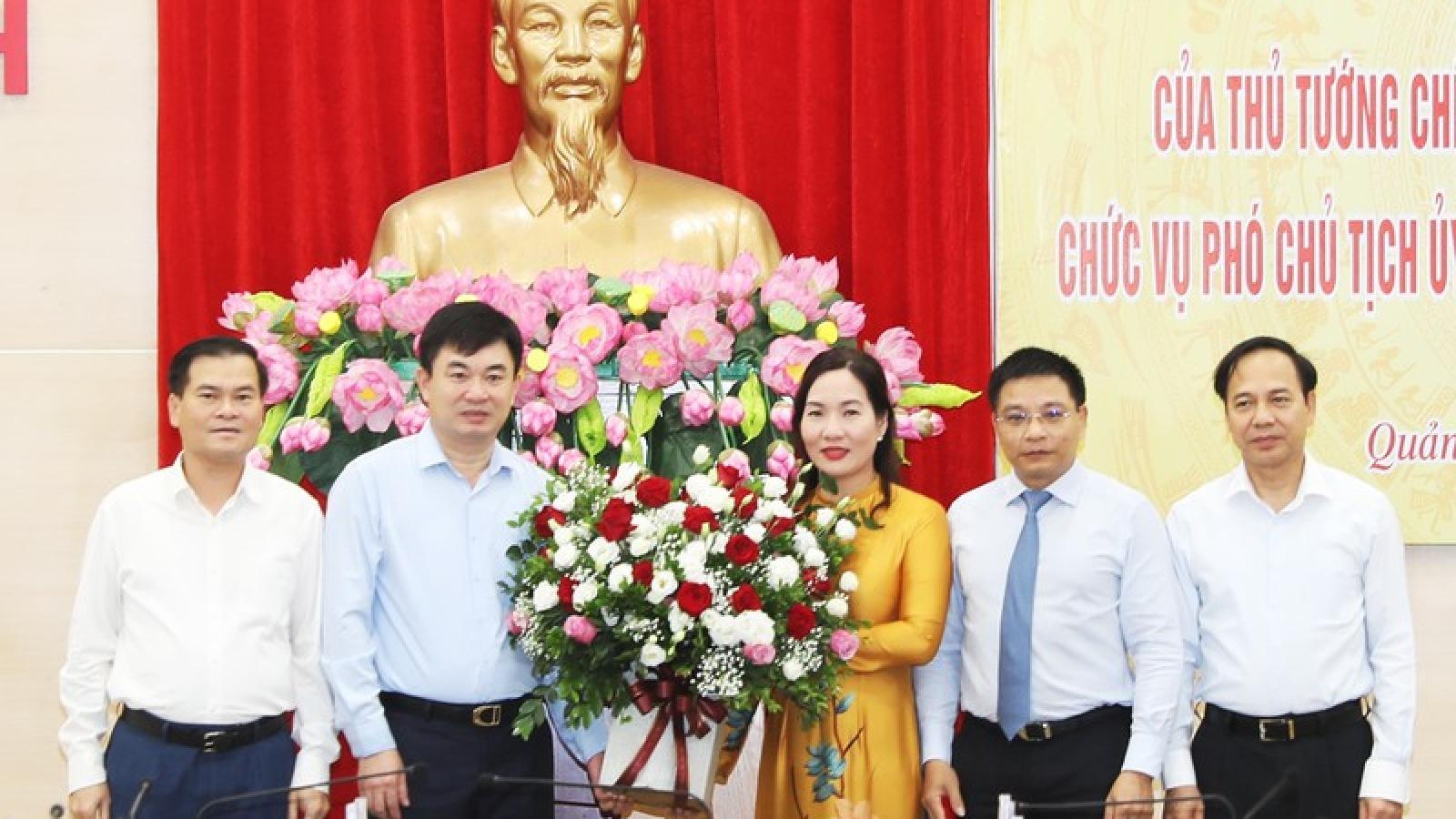 Công bố quyết định bổ nhiệm Phó Chủ tịch UBND tỉnh Quảng Ninh