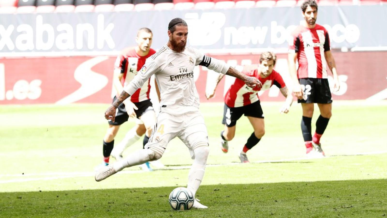 Đánh bại Bilbao, Real Madrid hơn kình địch Barca tới 7 điểm