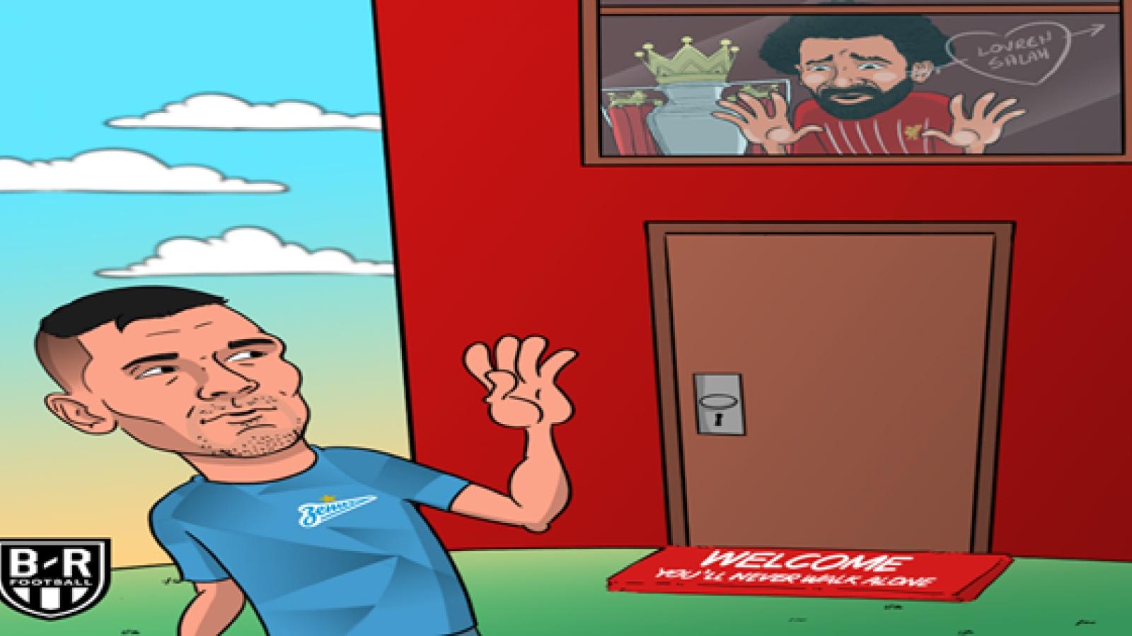 Biếm họa 24h: Salah ngậm ngùi chia tay người bạn thân thiết ở Liverpool