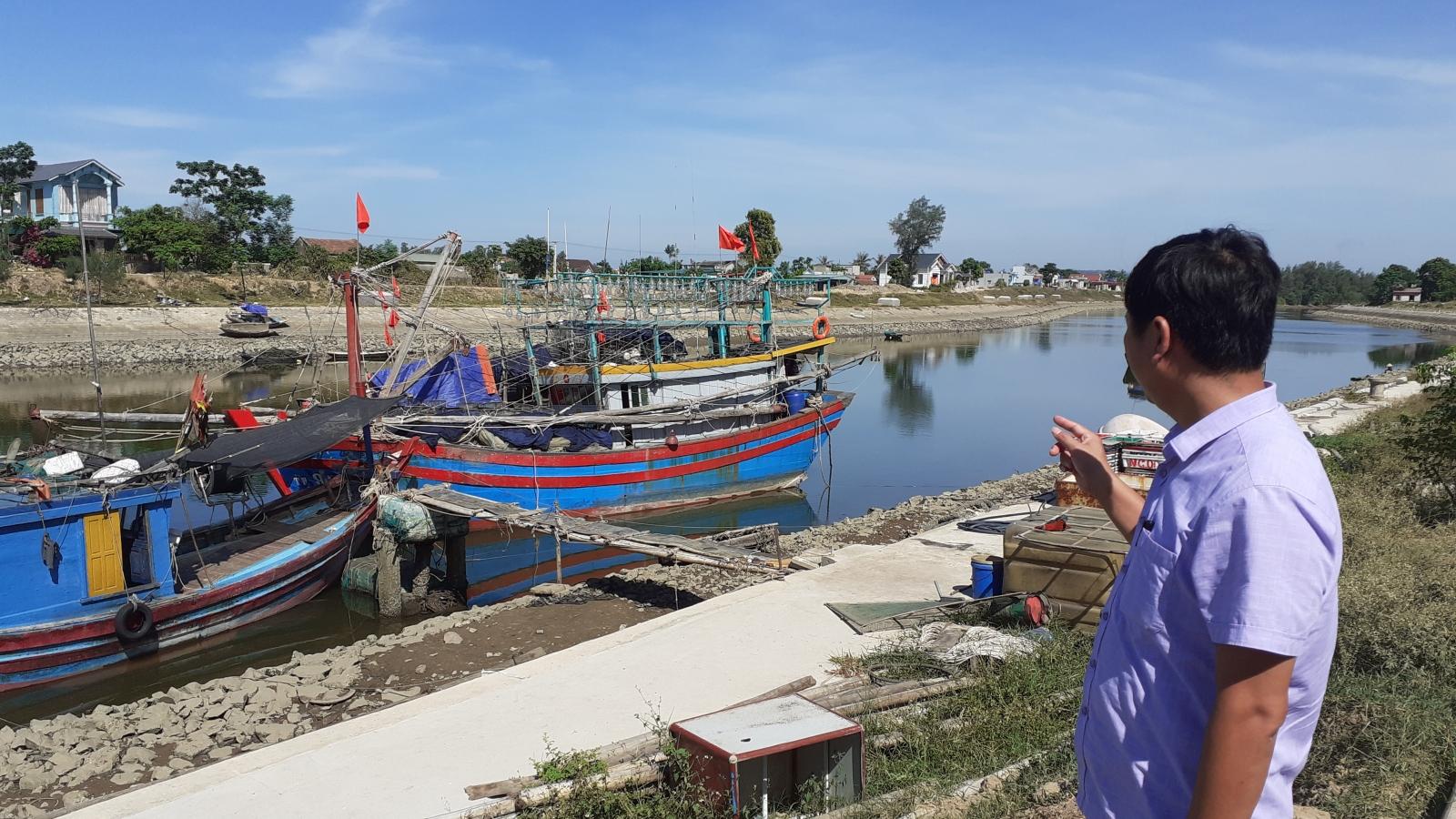 Dự án âu tàu tránh trú bão Quảng Xương, Thanh Hóa gần 4 năm vẫn còn dang dở