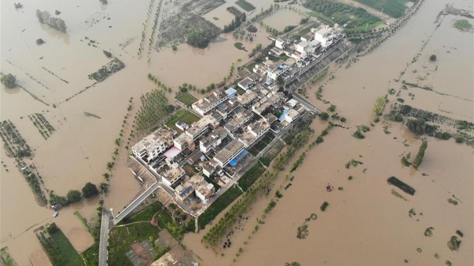 Sông Hoài (Trung Quốc) sắp phải gánh chịu 2 đợt mưa lớn