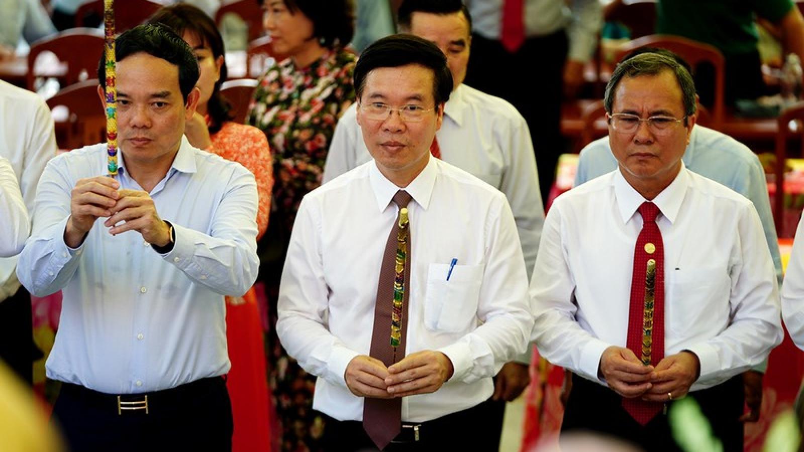 Ông Võ Văn Thưởng dự kỷ niệm 90 năm ngành Tuyên giáo tại Tây Ninh