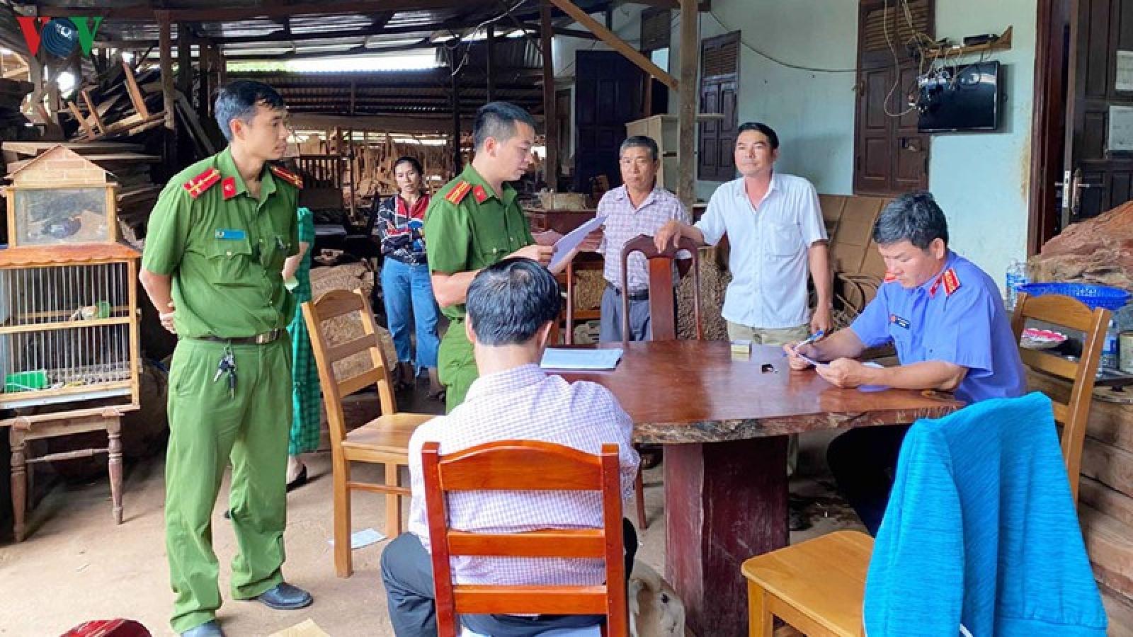 Chủ doanh nghiệp buôn lậu gỗ bị bắt tạm giam