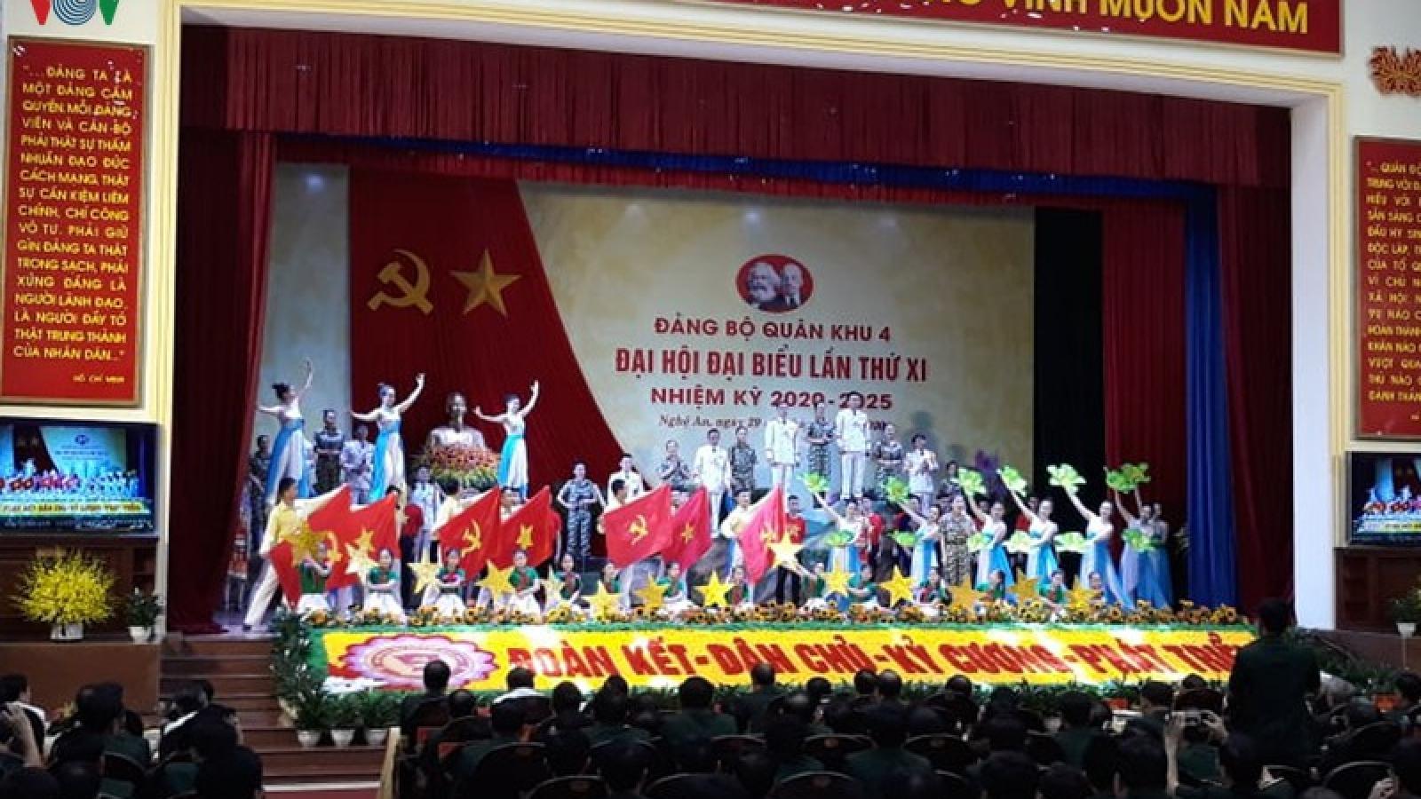 Khai mạc Đại hội Đại biểu Đảng bộ Quân khu 4 lần thứ XI
