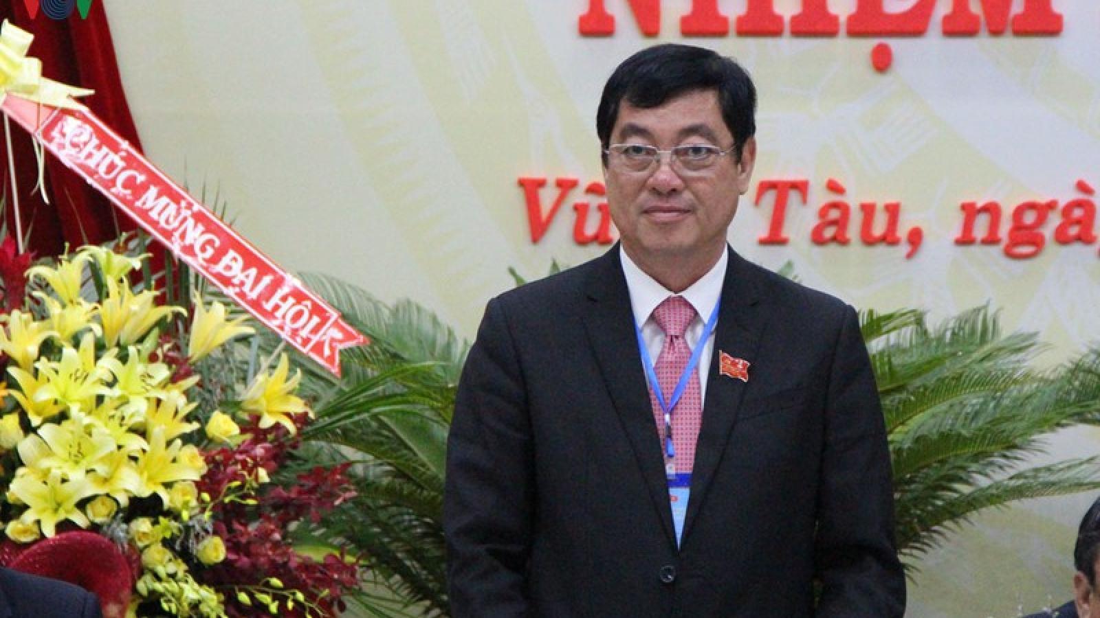 Ông Trần Đình Khoa được bầu làm Bí thư Thành ủy Vũng Tàu