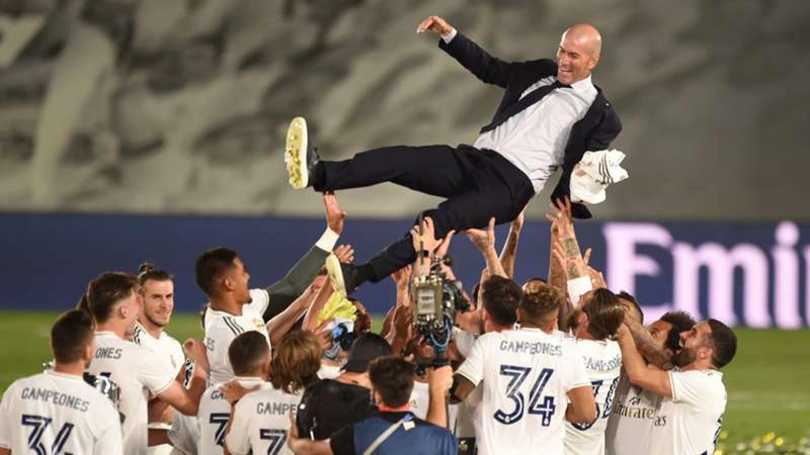 HLV Zidane nói gì khi giúp Real Madrid vô địch La Liga 2019/2020?