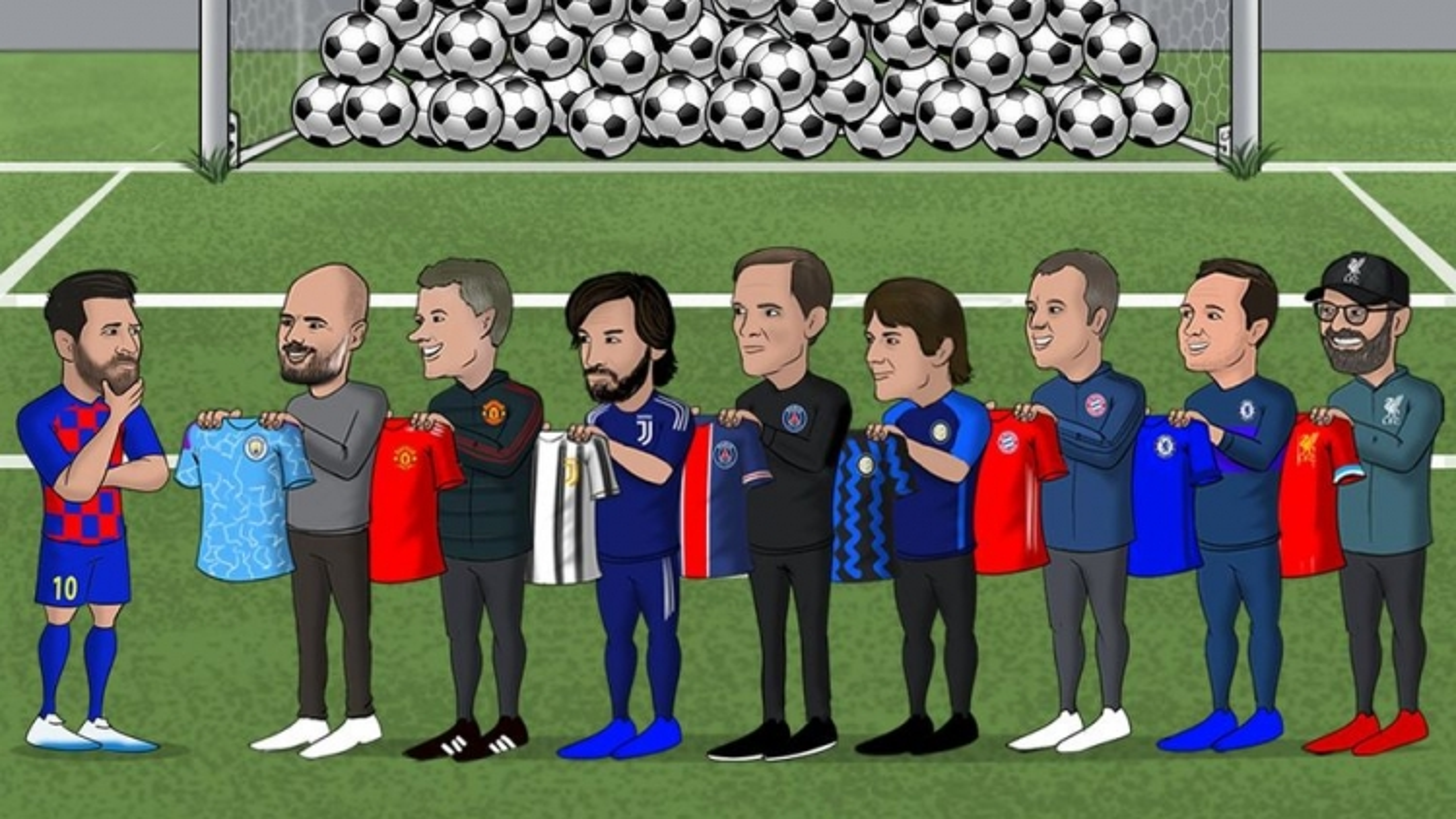 """Biếm họa 24h: MU và những ông lớn xếp hàng """"dụ dỗ"""" Messi"""