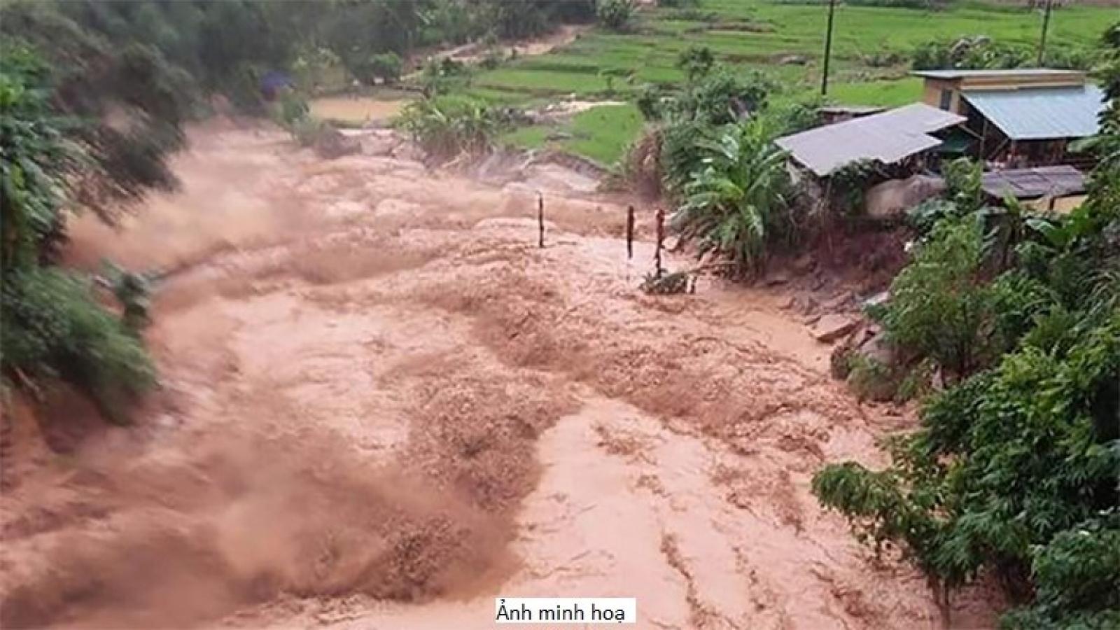 Cảnh báo lũ quét, sạt lở đất khu vực Lào Cai và Hà Giang