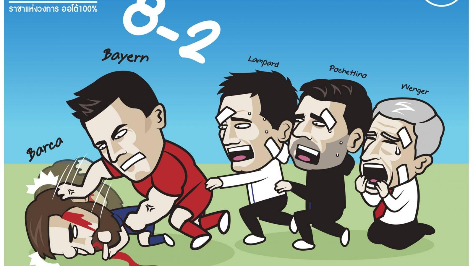 """Biếm họa 24h: Barca nhận cái kết """"đắng lòng"""" khi chọc giận Bayern Munich"""