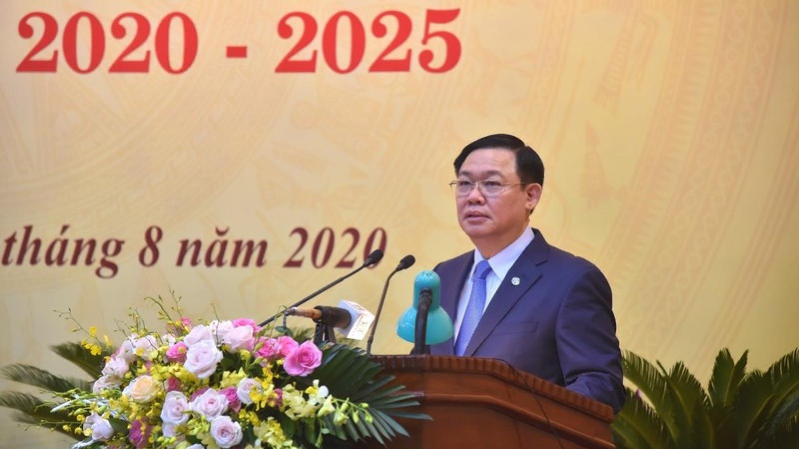 Ông Vương Đình Huệ dự Đại hội Đảng bộ khối các cơ quan thành phố Hà Nội