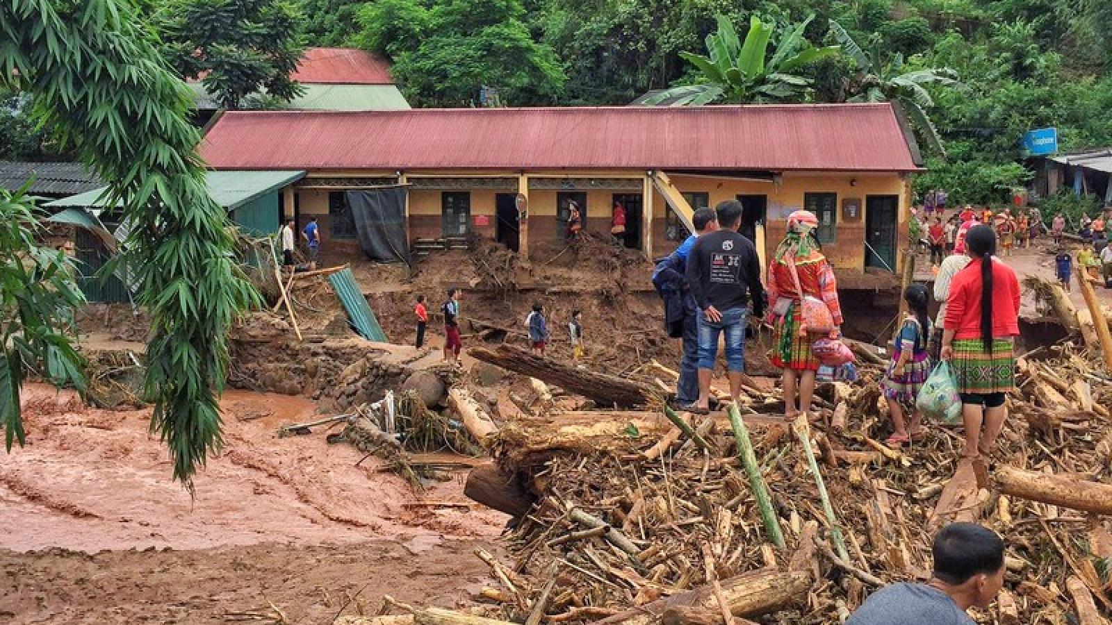 Ảnh: Xã Nậm Nhừ, Điện Biên tan hoang sau trận lũ quét