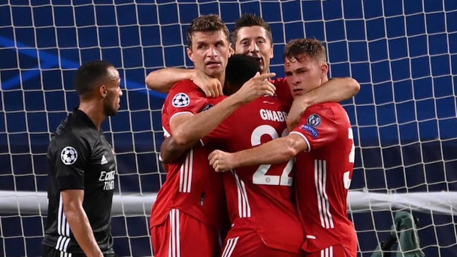 """Toàn cảnh Bayern """"hủy diệt"""" Lyon để tiến vào trận chung kết Champions League"""