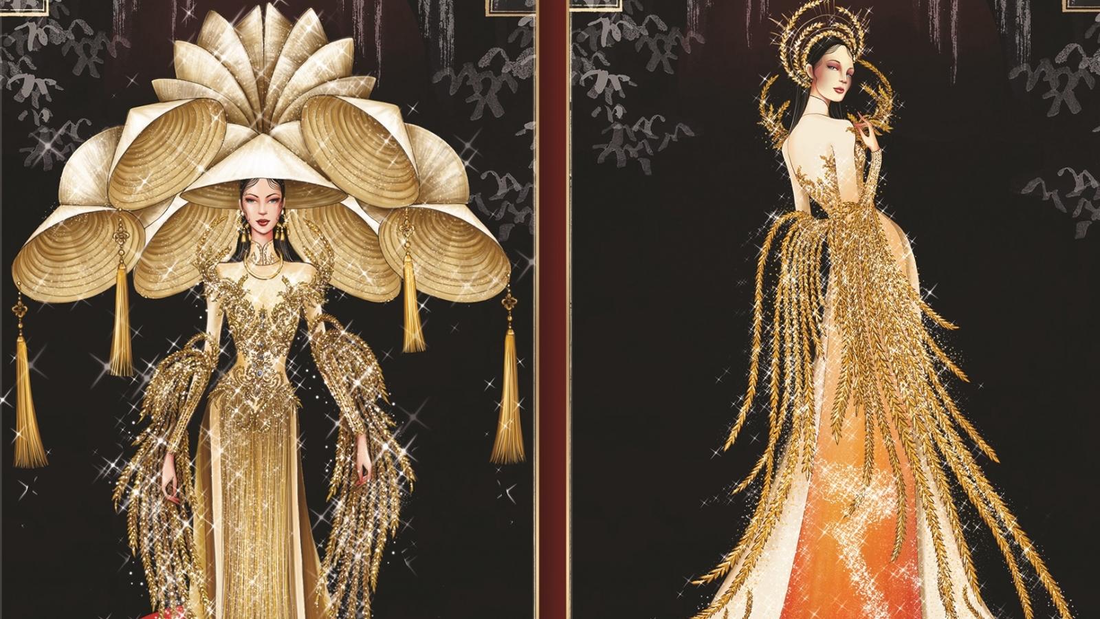 Top 8 cuộc thi thiết kế trang phục dân tộc cho Hoa hậu Khánh Vân tại Miss Universe