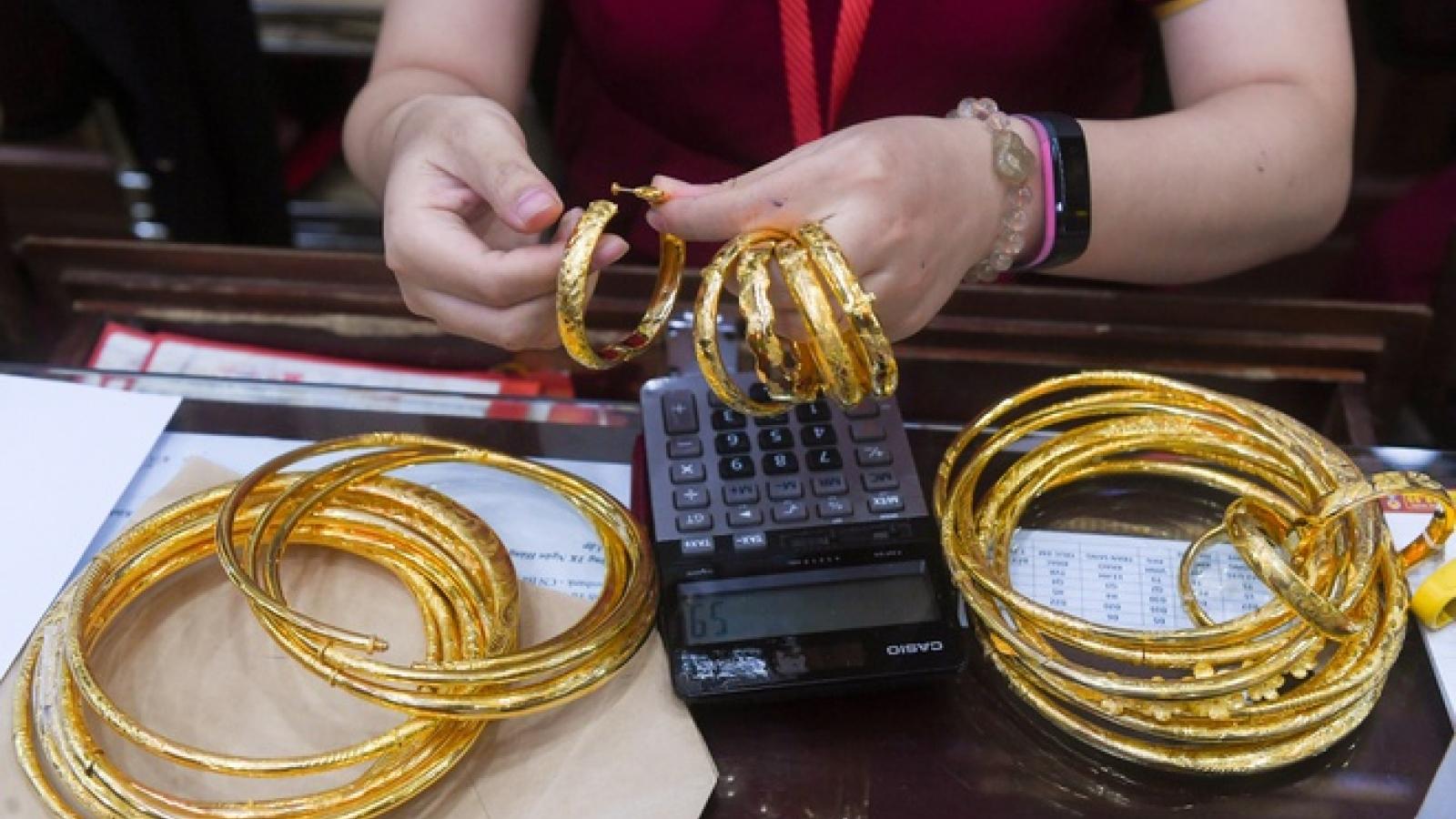 Giá vàng giảm thêm hơn 2 triệu đồng/lượng