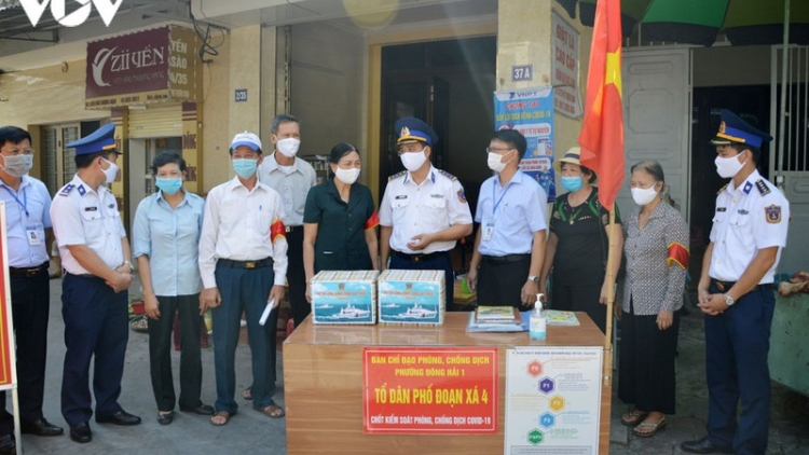 Vùng Cảnh sát biển 1 đồng hành cùng tuyến đầu phòng chống dịch Covid-19