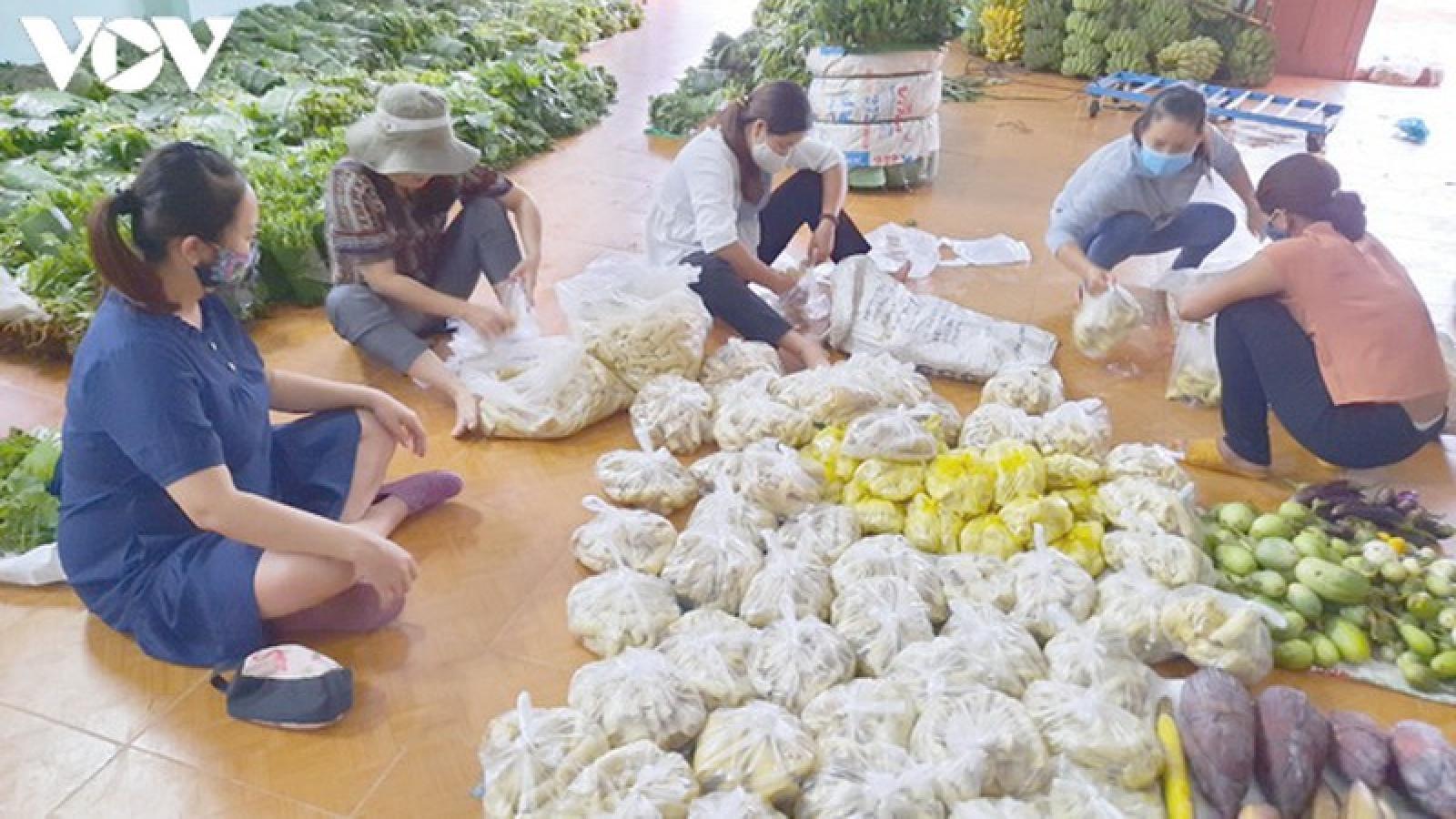 Đồng bào miền núi Nam Trà My, Quảng Nam ủng hộ Đà Nẵng 9 tấn rau rừng