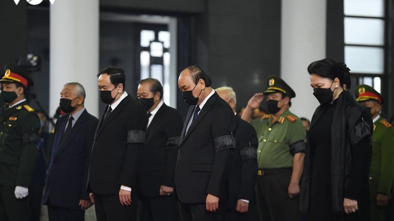 Quốc tế gửi lời chia buồn lễ tang nguyên Tổng Bí thư Lê Khả Phiêu