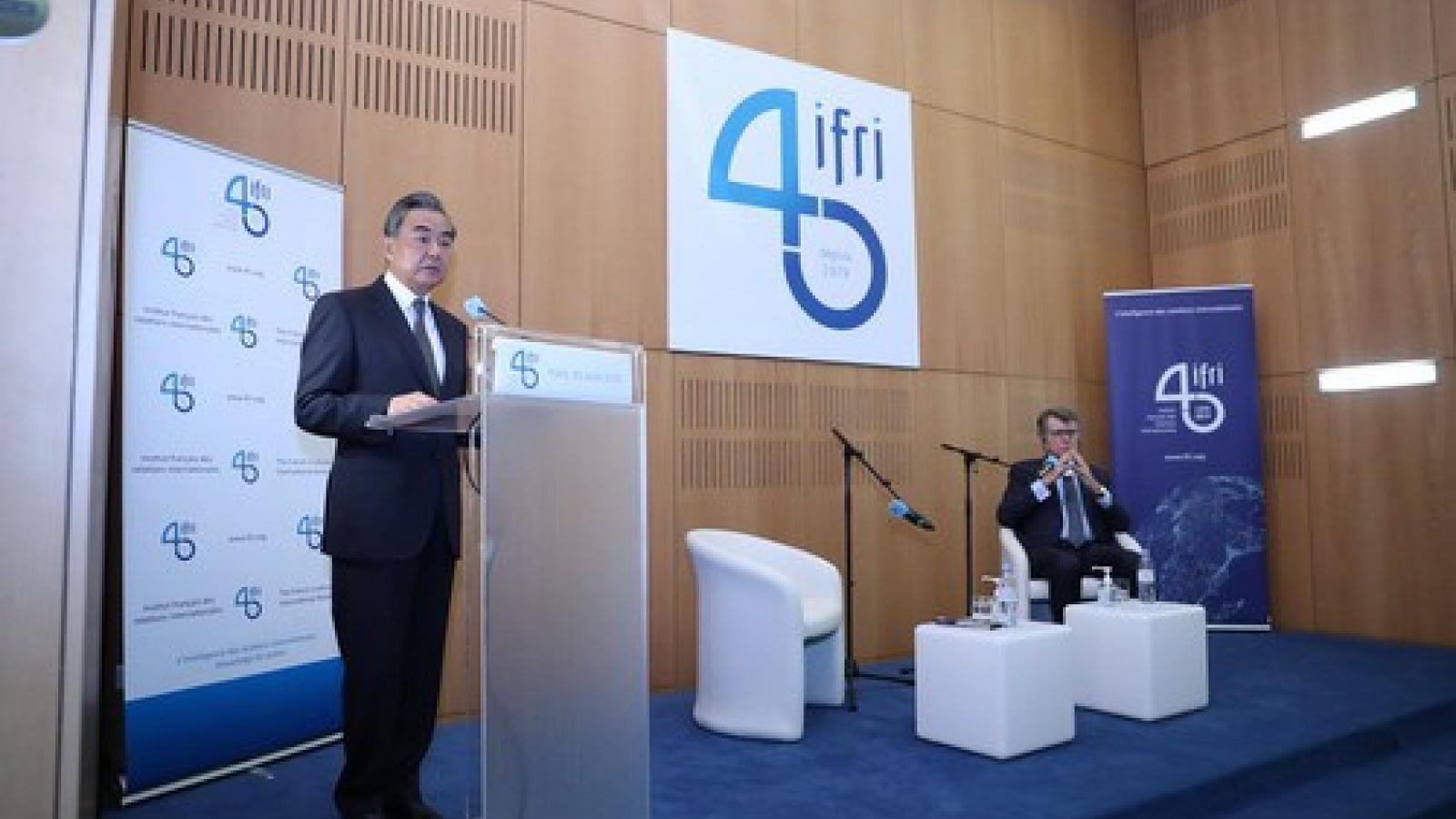 Ngoại trưởng Trung Quốc đưa ra 4 lĩnh vực phát triển quan hệ với châu Âu