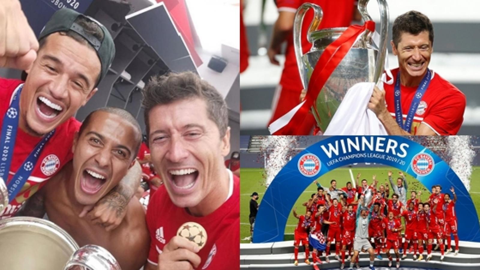 Cận cảnh: Dàn sao Bayern Munich ăn mừng chức vô địch Champions League
