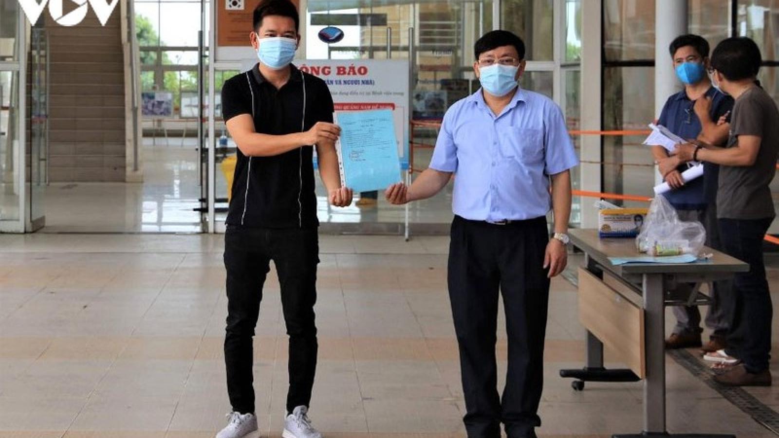 Quảng Nam cho xuất viện 11 bệnh nhân khỏi Covid-19