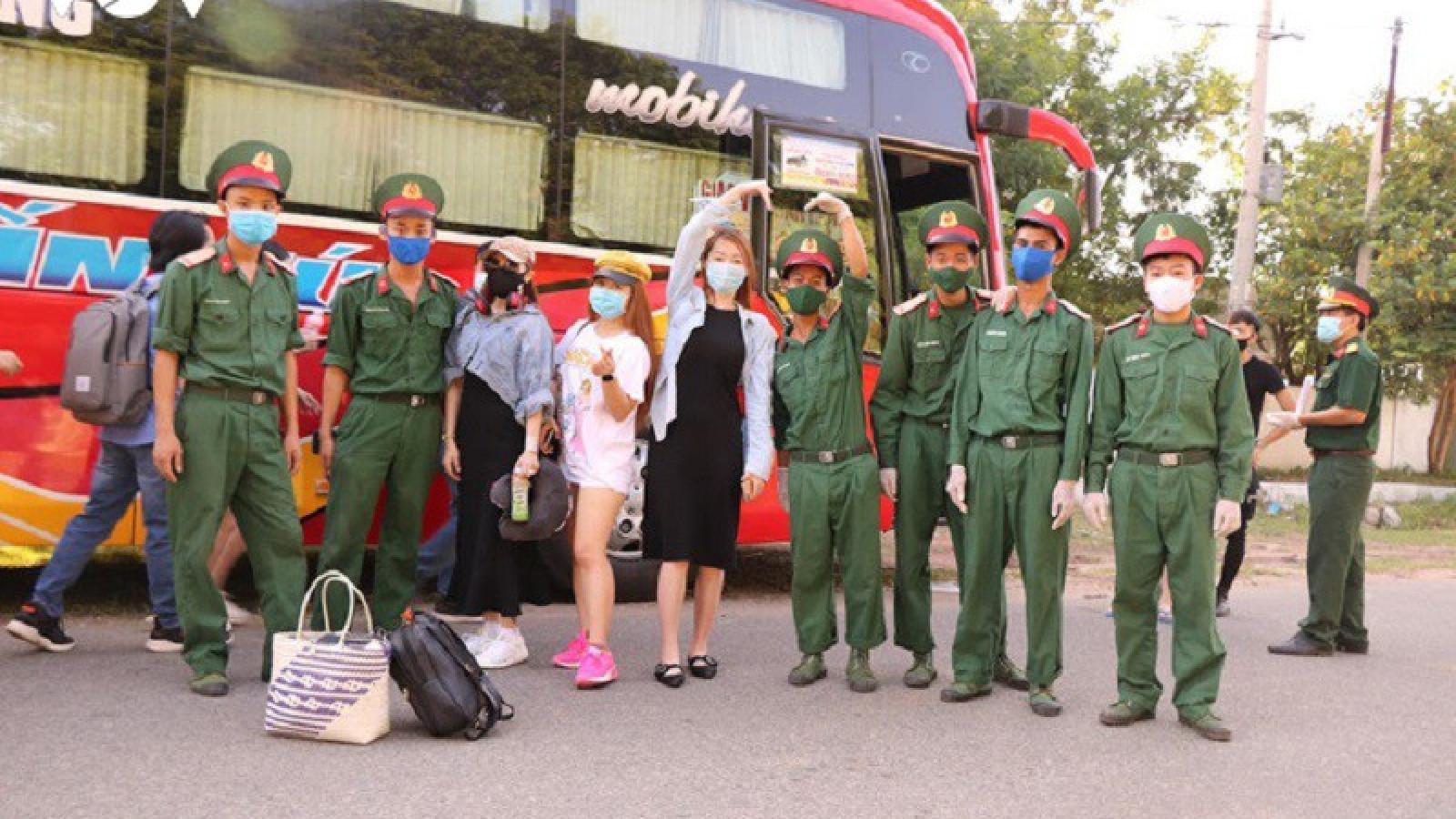 232 công dân trở về từ Malaysia hoàn thành cách ly y tế tập trung