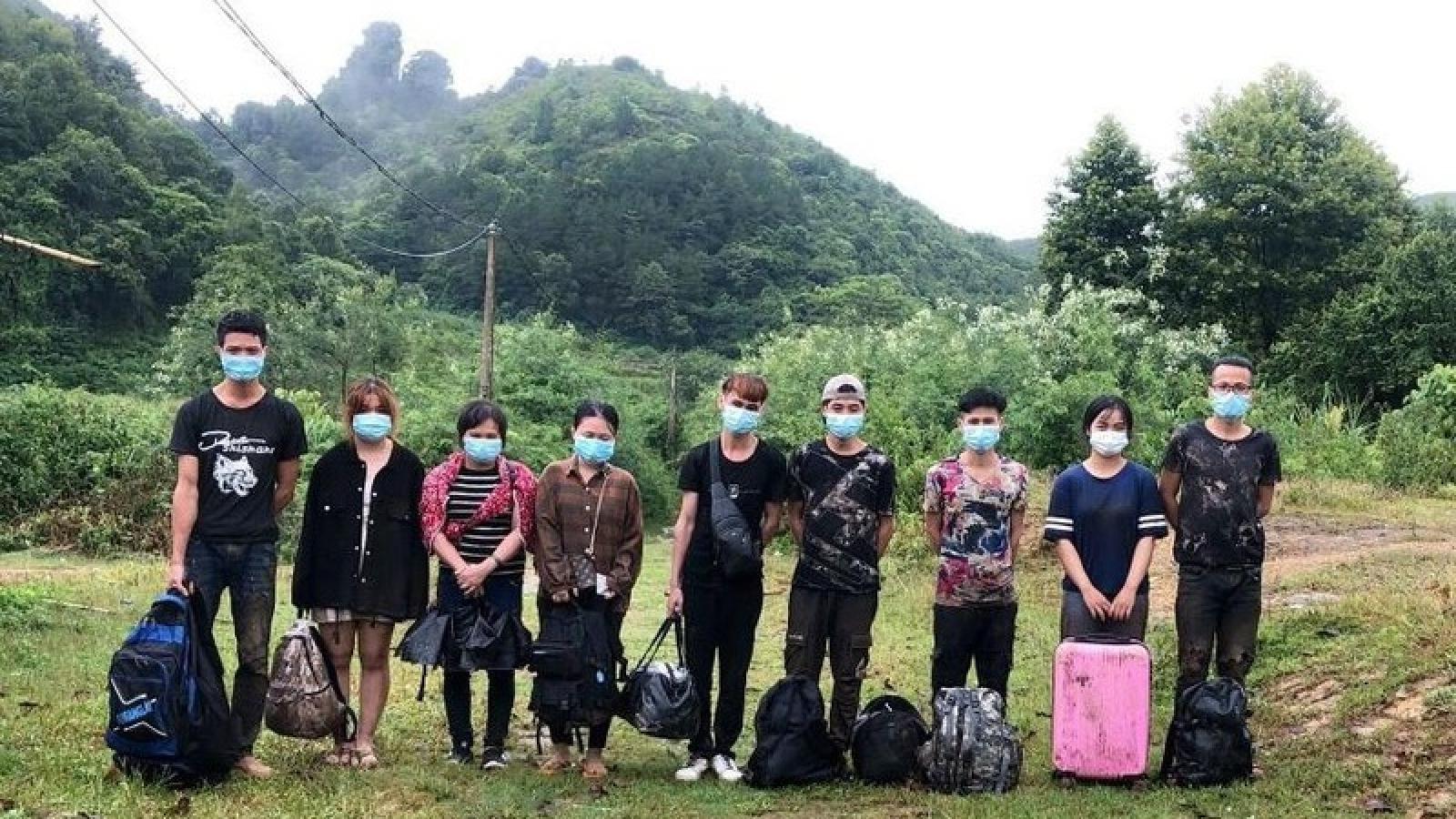 9 đối tượng nhập cảnh trái phép tại Cao Bằng bị đưa đi cách ly