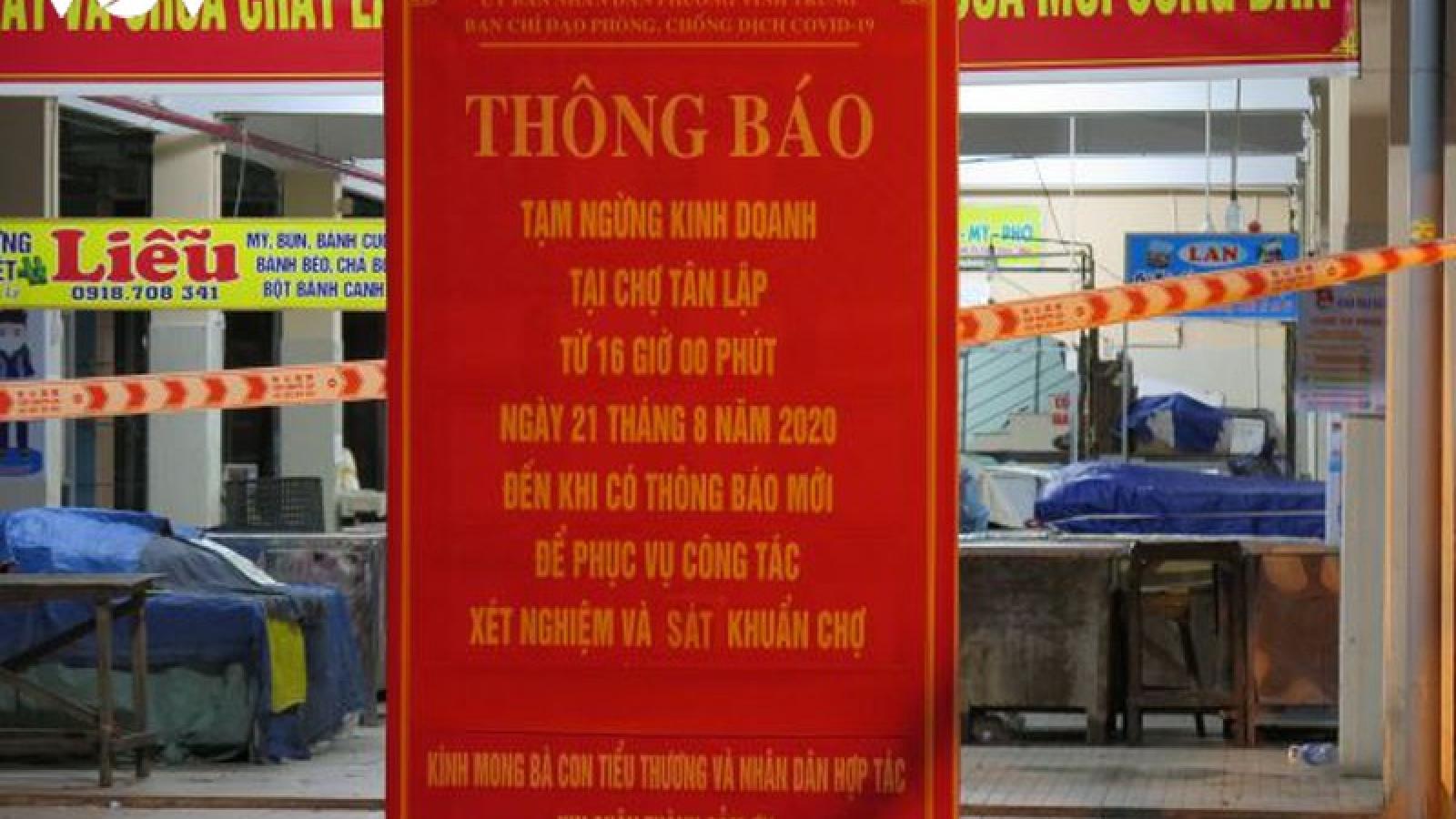Nhiều chợ tạm Đà Nẵng ngưng hoạt động do tiểu thương mắc Covid -19