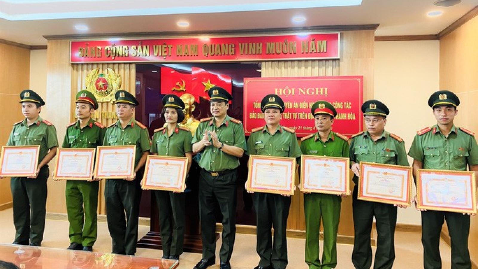 Phá 3 chuyên án lớn, Công an tỉnh Thanh Hóa được trao thưởng 100 triệu đồng