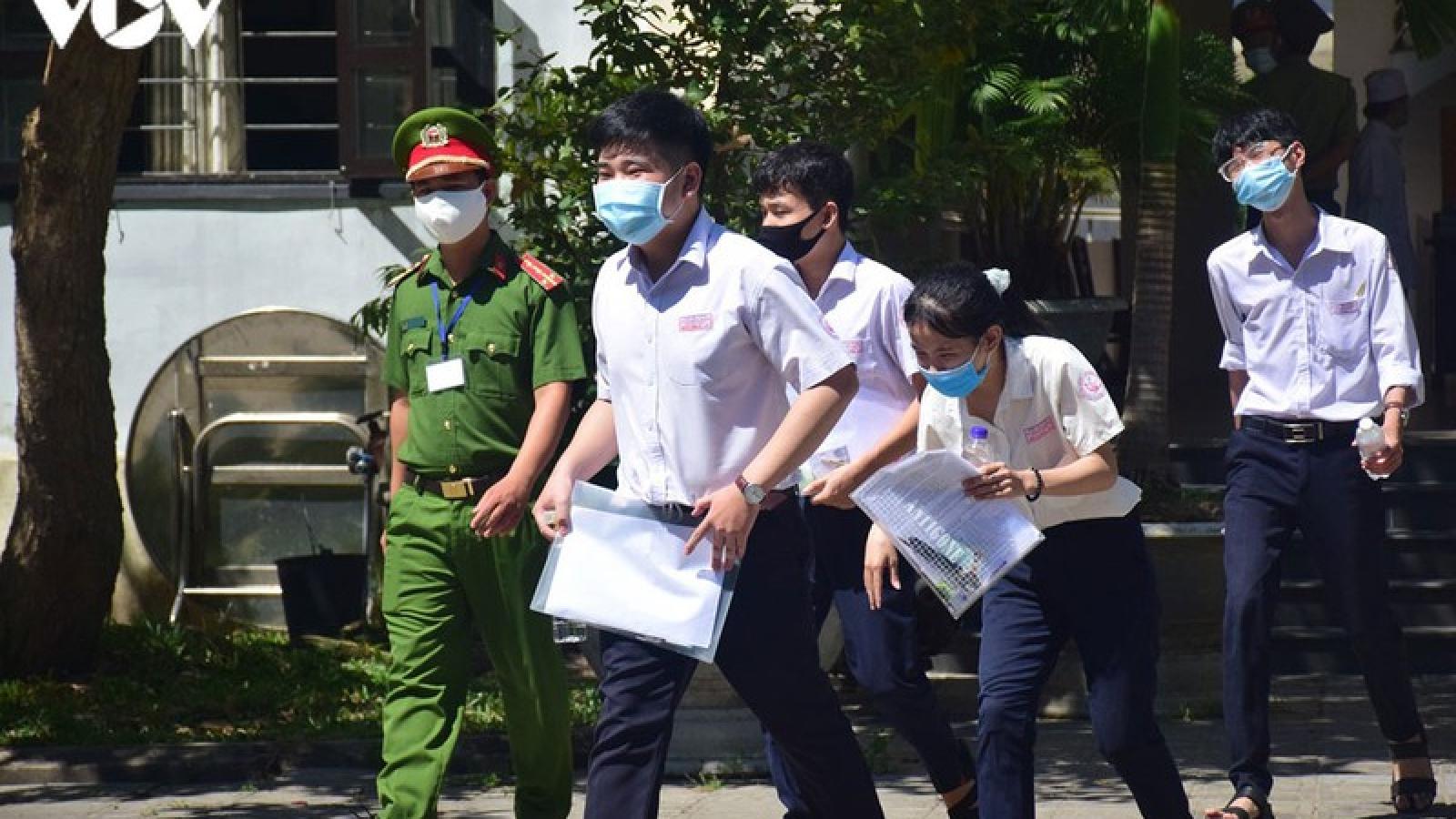 Quảng Nam Sau vụ thầy giáo mắc Covid-19, rà soát kỹ cán bộ coi thi THPT đợt 2