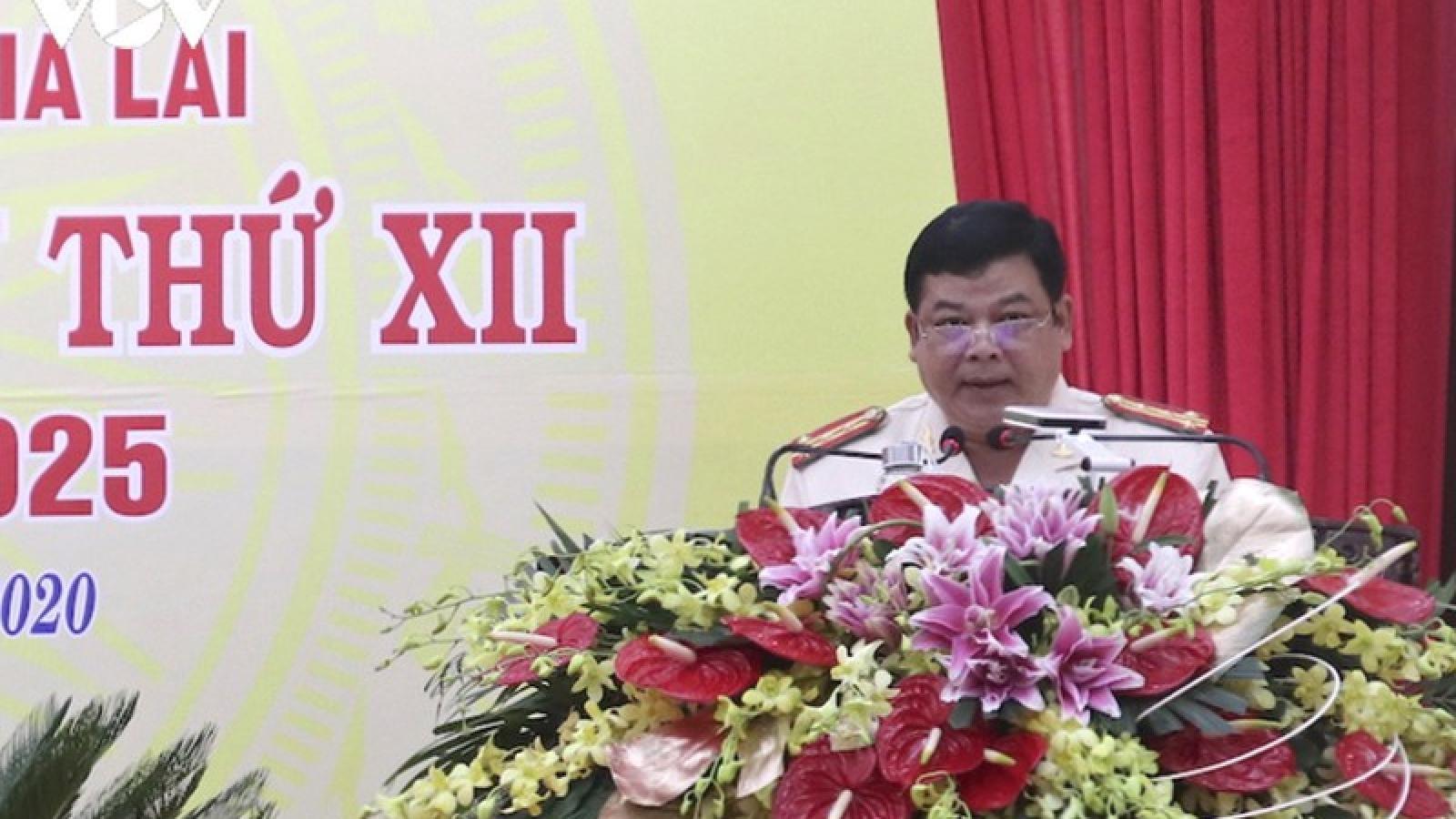Đại tá Rah Lah Lâm tái đắc cử Bí thư Đảng uỷ Công an tỉnh Gia Lai