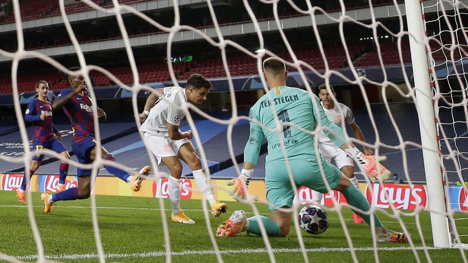 Coutinho hạnh phúc khi lập cú đúp vào lưới Barca