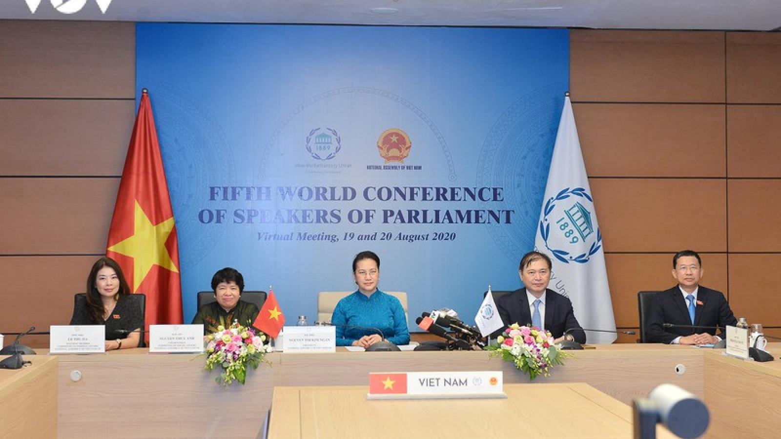 Chủ tịch Quốc hội dự Hội nghị các Chủ tịch Quốc hội Thế giới