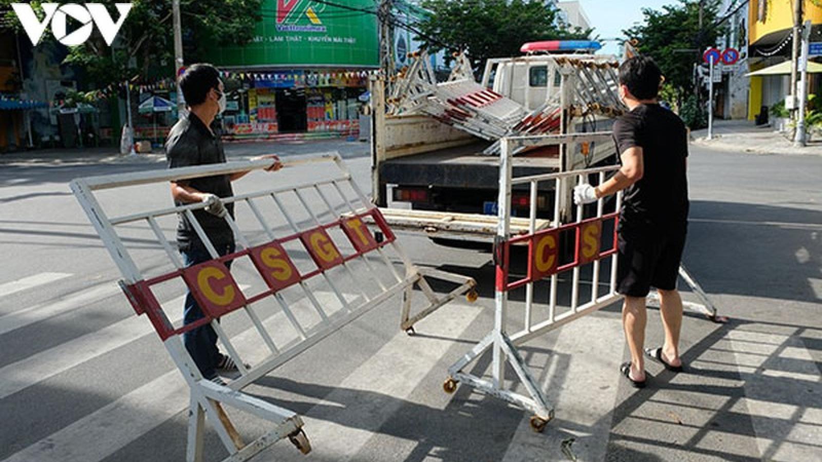 Đà Nẵng tiếp tục thực hiện giãn cách xã hội theo Chỉ thị 16