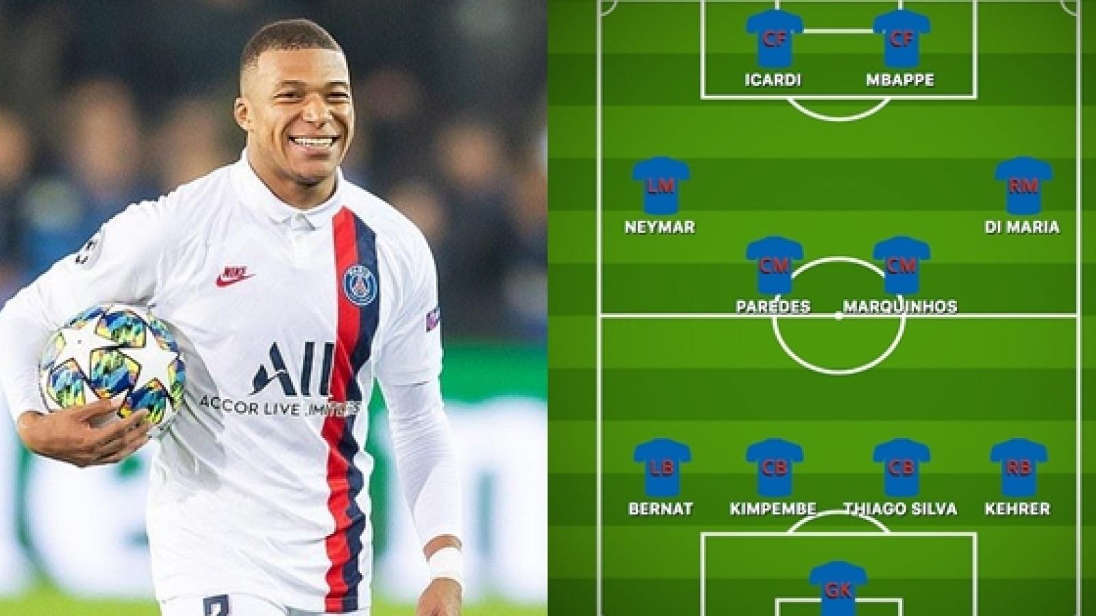 Đội hình dự kiến của PSG trước Leipzig: Mbappe trở lại đá chính?