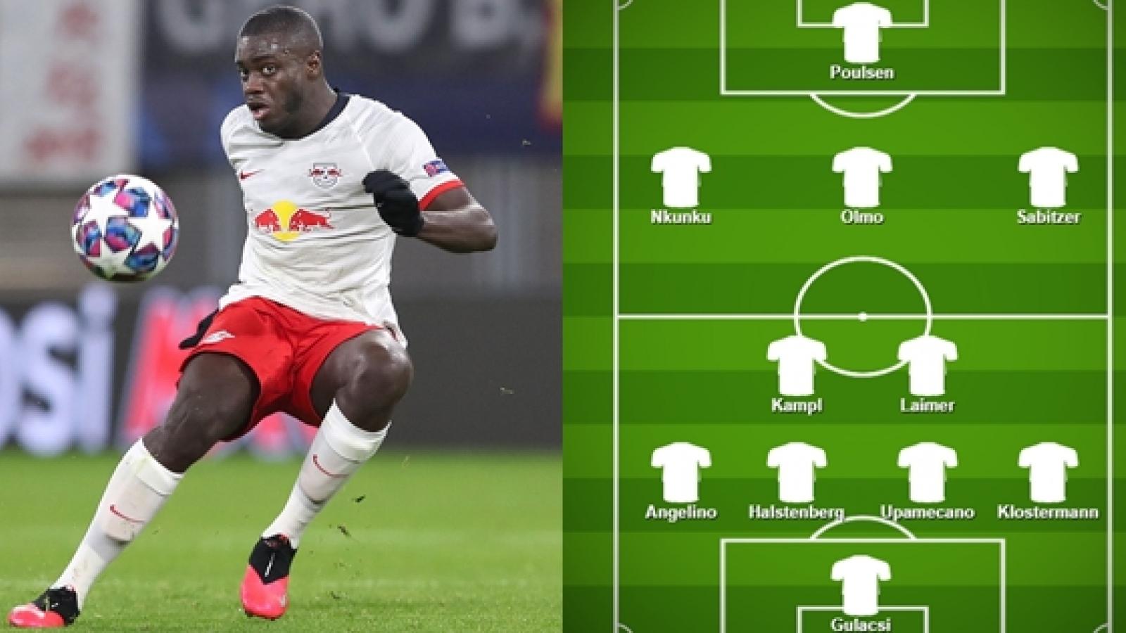 Đội hình dự kiến của Leipzig trước PSG: Upamecano là tâm điểm chú ý