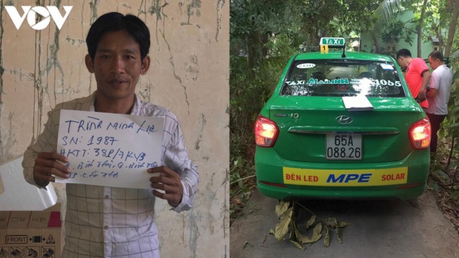 Siết cổ nữ lái xe taxi để cướp tài sản