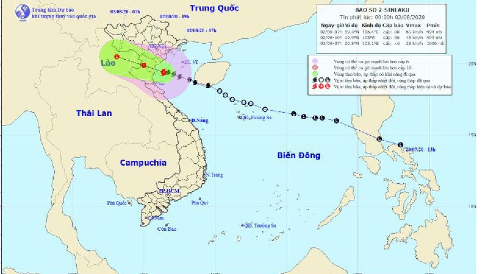 Bão số 2 giật cấp 10 sắp đổ bộ vào đất liền, mưa lớn khắp cả nước