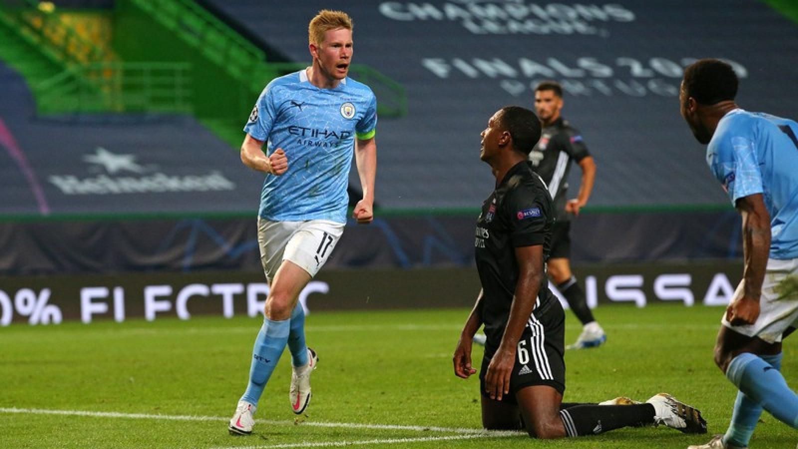 Man City bị loại ở Champions League, De Bruyne chỉ muốn về với vợ