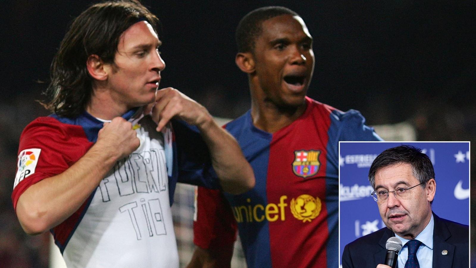 """Samuel Eto'o: """"Nếu Messi rời khỏi Barca, người ta sẽ phải đổi tên đội bóng"""""""