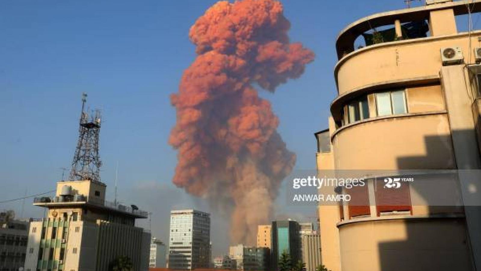 Số người chết trong vụ nổ kinh hoàng ở Beirut tăng lên 171 người