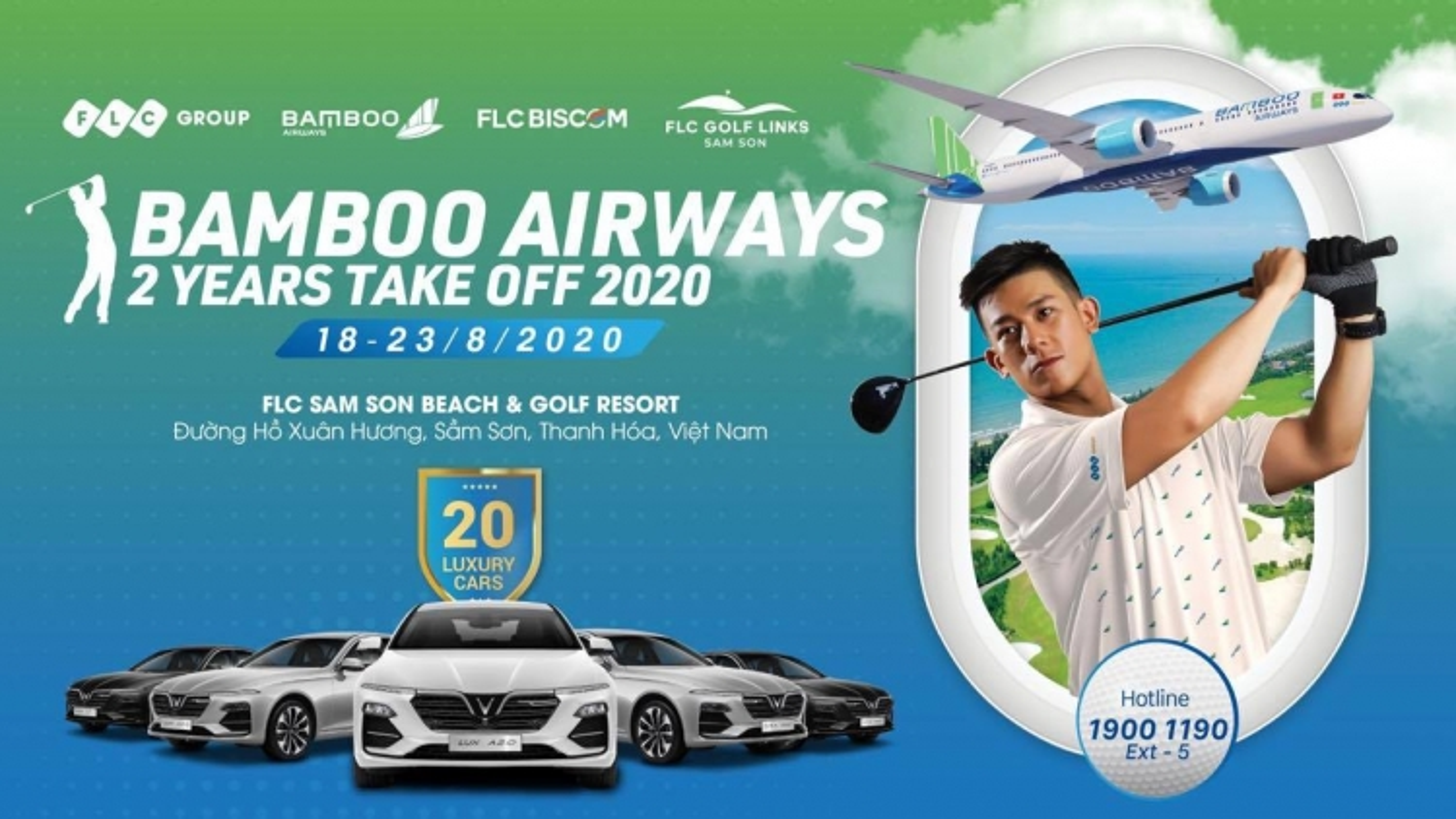 Giật xế sang chỉ với Eagle ở hố bí ẩn tại Bamboo Airways 2 Years Take Off 2020