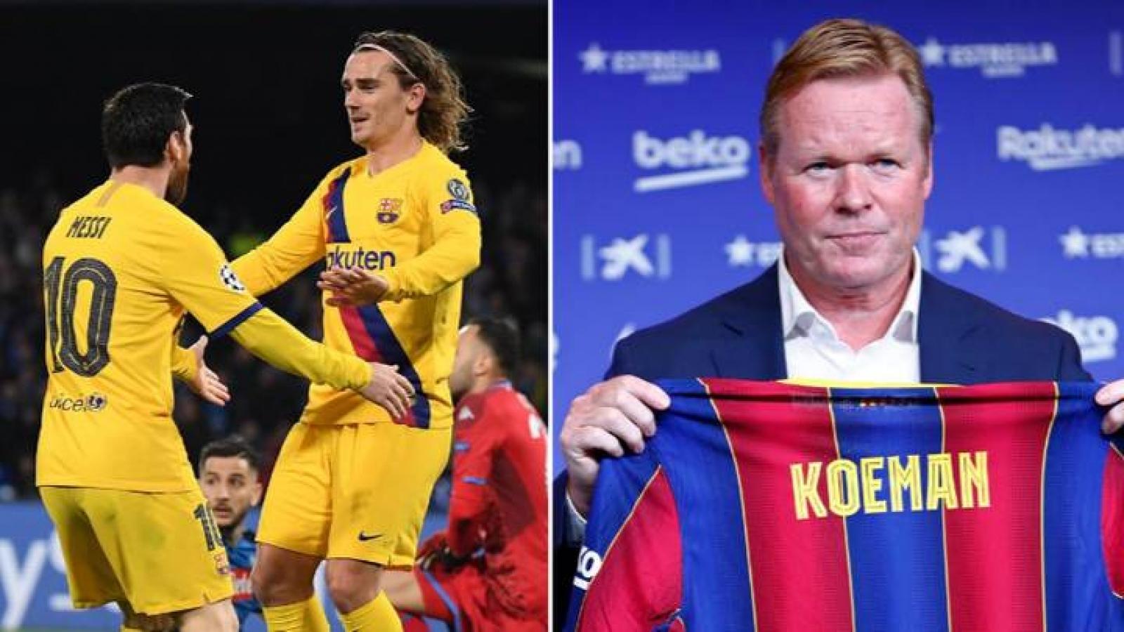 Barca sẽ xây dựng lối chơi xoay quanh Griezmann, dù Messi ở lại hay ra đi