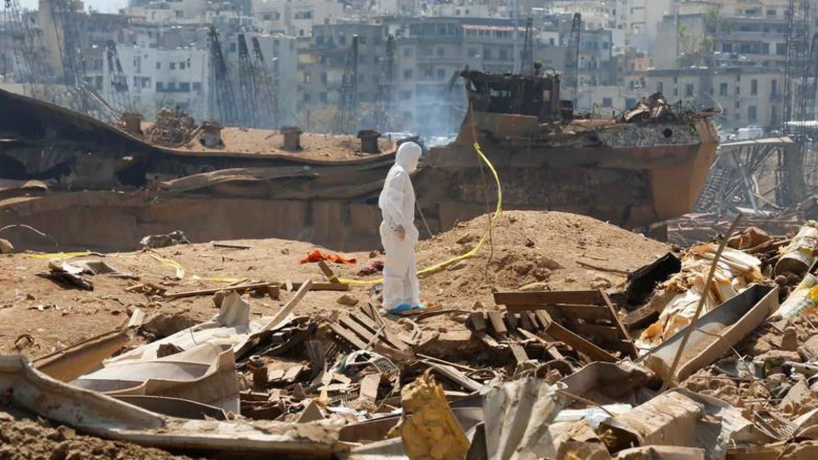 Quốc tế cam kết trợ giúp Lebanon 250 triệu euro khắc phục hậu quả vụ nổ lớn